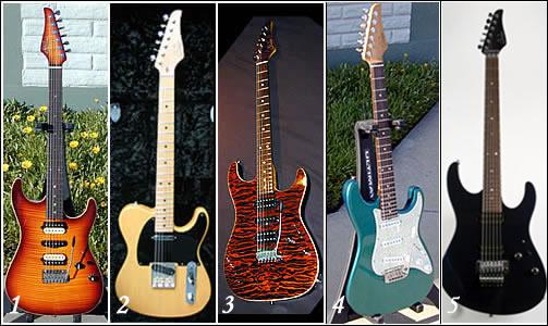 Guitarras Suhr de Guthrie Govan