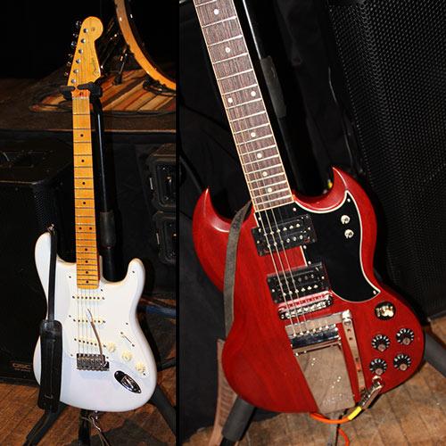 Fender Eric Johnson y prototipo de Gibson Frank  Zappa SG