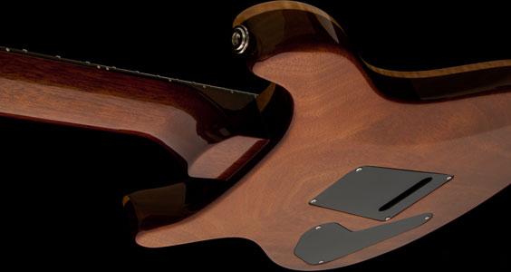 Cuerpo y mástil de caoba, construcción set-neck