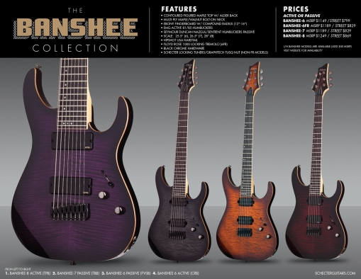 Schecter Banshee Collection