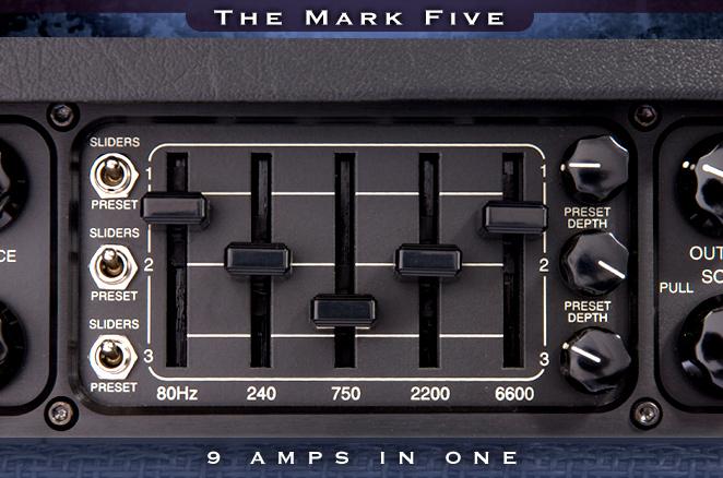 Seccion ecualizador gráfico del Mesa Boogie Mark V