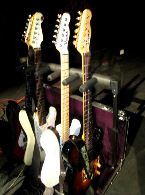 Las Vanz utilizadas en el concierto...