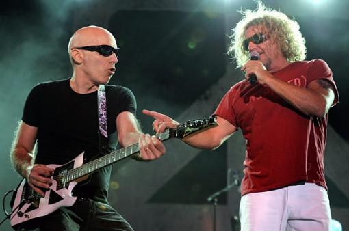 Joe Satriani y Sammy Hagar