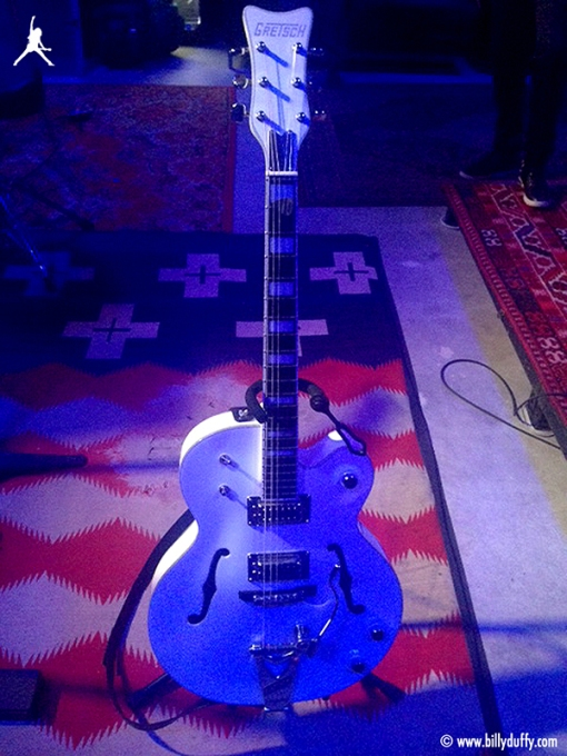 My Gretsch Signature Billy Duffy Falcon making it's first appearance on Cult recordings.""