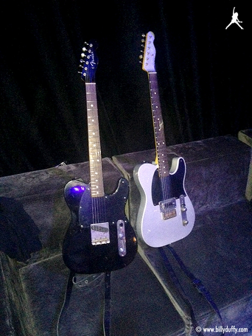 The two newest additions to the my guitar collection the BD Custom Fender 'Esquire' and Nash '63 Relic Esquire.""